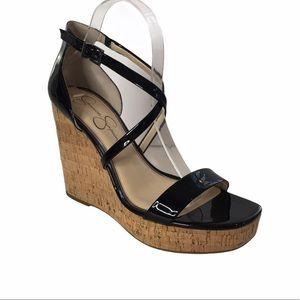 Jessica Simpson Stassi Platform Wedge Sandals 10